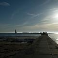 Pier With Sun by Linda Kerkau