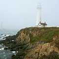 Pigeon Point Light In A Mist by Christiane Schulze Art And Photography