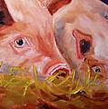 Piglet Pair by Nancy Merkle