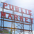 Pike Place Public Market Sign by Stephanie McDowell