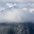 Pikes Peak In Snow by Steve Krull