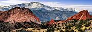 Pikes Peak Mountain Panorama - Colorado Springs by Gregory Ballos