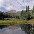 Pikes Peak Reflection by Vicki Reinke