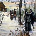 Pilgrims: Church by Granger