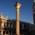 Pillars And Bell Tower At San Marco In Venice by Michael Henderson