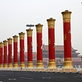 Pillars At Tiananmen Square by Carol Groenen