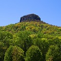 Pilot Mountain In Spring Green by Kathryn Meyer
