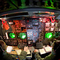 Pilots At The Controls Of A B-52 by Stocktrek Images