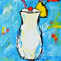 Pina Colada - Tropical Drink - Modern Art - Patio Bathroom Decor by Patricia Awapara