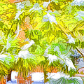 Pine Branch Under Snow by Jeelan Clark
