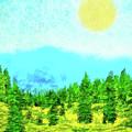 Pine Tree Mountain Blue - Shasta California by Joel Bruce Wallach