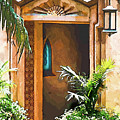 Pinewood Estate Entrance In Watercolor by Susan Molnar