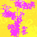 Pink Abstract Tree by David G Paul