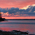 Pink And Blue Sunset by Carolyn Fletcher