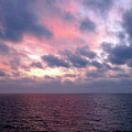 Pink And Blue Sunset In The Black Sea by Phyllis Kaltenbach