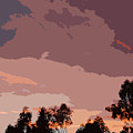 Pink And Mauve Sky Abstract by Linda Brody