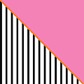 Pink And Orange And Black Geometric by Linda Woods