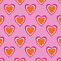 Pink And Orange Hearts- Art By Linda Woods by Linda Woods
