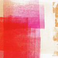 Pink And Red Minimal 2- Abstract Art By Linda Woods by Linda Woods