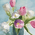 Pink And White Tulips by Beverly Brown