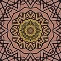Pink And Yellow Kaleidoscope 1 by Lori Kingston