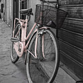 Pink Bicycle In Rome by Edward Fielding
