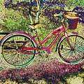 Pink Bicycle by Leslie Revels