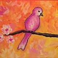 Pink Bird by Burgundy Hanna