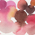 Pink Brown Coral Abstract Watercolor by Beverly Brown