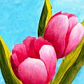 Pink Bubblegum Tulips I by Phyllis Howard