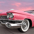 Pink Cadillac Sunset by Gill Billington
