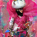 Pink Carnival Costumed Lady by Suzanne Powers