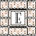 Pink Champagne Deco Monogram  E by Cecely Bloom