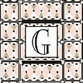 Pink Champagne Deco Monogram  G by Cecely Bloom