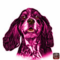 Pink Cocker Spaniel Pop Art - 8249 - Wb by James Ahn