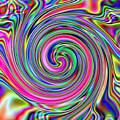 Pink Electric Swirl by Wayne Bonney