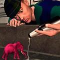 Pink Elepant by John Junek