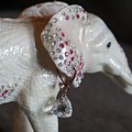 Pink Elliefont Earring by Susan Brown