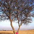 Pink Field Gnome by Caroline  Urbania Naeem