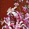 Pink Floral Arrangement by Joan  Minchak
