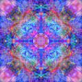 Pink Flower Of Life Mandala by Susan Bloom