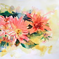 Pink Flowers by Ibolya Taligas