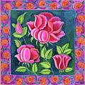 Pink Flowers by Jane Tattersfield