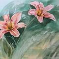 Pink Flowers by Katherine  Berlin