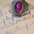 Pink Gem Silver Ring by Jaroslaw Blaminsky