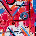 Pink Geometry by Jilian Cramb - AMothersFineArt