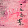 Pink Gray Abstract by Voros Edit