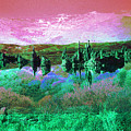 Pink Green Waterscape - Fantasy Artwork by Peter Potter