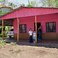 Pink House In Costa Rica by Madeline Ellis