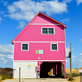 Pink House On The Beach 3 by Jeelan Clark